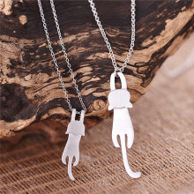 925 Sterling Silver Cute Cat Necklaces & Pendants For Women High Quality Sterling-silver-jewelry