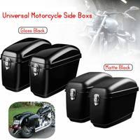 Pair 30L Large Motorcycle Saddle Bags Side Boxs Luggage Tank Hard Case For Kawasaki/Honda/Yamaha/Suzuki