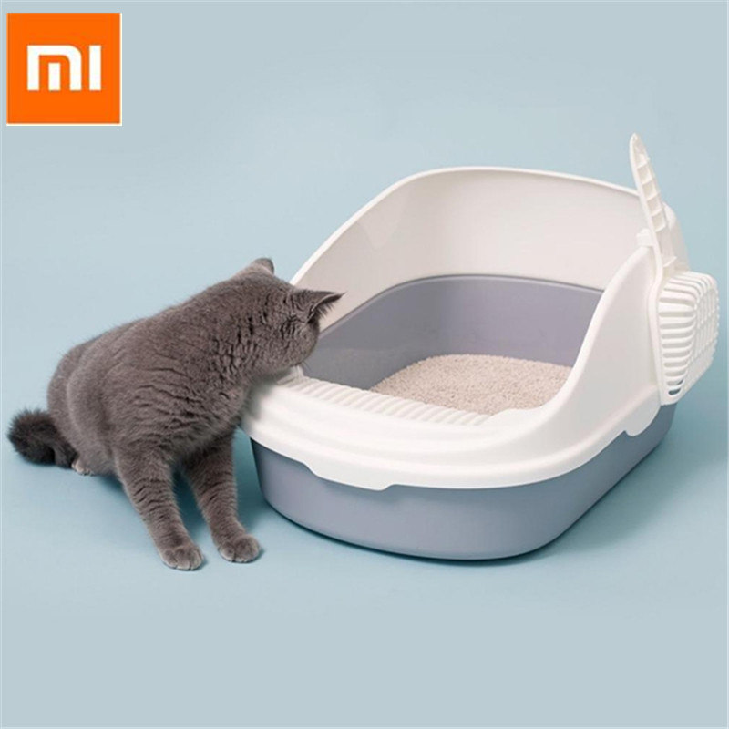 Ev ve Bahçe'ten Kedi Kumu Kutuları'de Taşınabilir Kedi Çöp Kase Tuvalet Yatak Örtüleri Büyük Orta Boy Kedi Dışkı Eğitim Kum kum kabı Kepçe ile Evcil Hayvanlar için'da  Grup 1