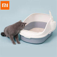 xiaomi-portable-cat-litter-bowl-toilet-bedpans-large-middle-size-cat-excrement-training-sand-litter-box-with-scoop-for-pets