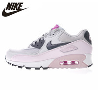 Nike Official Air Max 90 Women's Running Shoes Abrasion Breathable Resistant Shock Absorption Outdoor Sneakers 616730 112