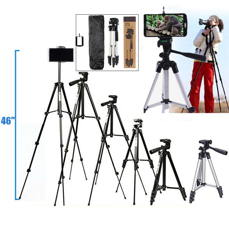 """2019 New 46"""" Professional Camera Tripod Stand Holder Mount for iPhone/Samsung Cell Phone r20"""