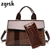 Ladies Purses And Handbags Designer Pu Leather Women Messenger Bags Bag Alligator Handbag For Fashion Shoulder