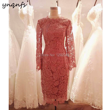 19c804b12948 YNQNFS MD406 Party Formal Dress Vintage Tea Length Long Sleeve Wedding  Guest Wear Mother of the