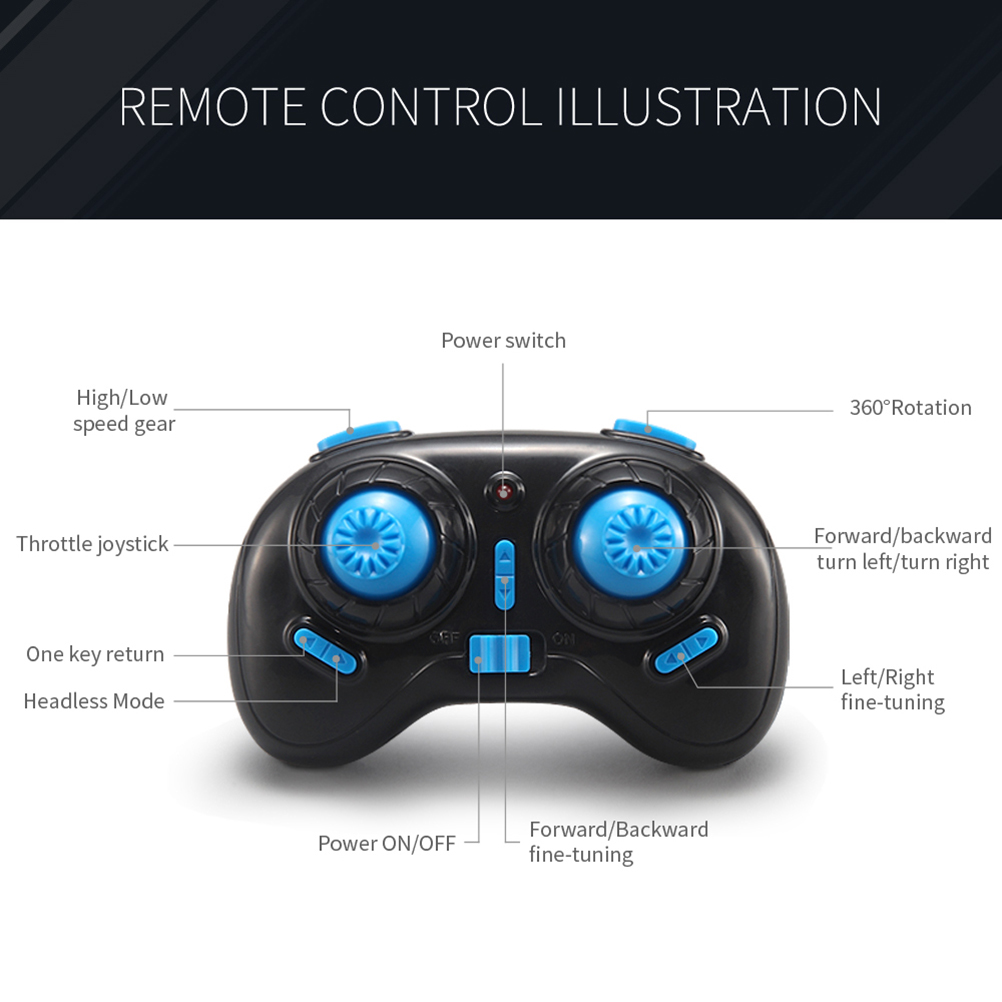 Global Mini Drone One Key Return RC Helicopter 6-Axis Gyro Headless Mode Quadrocopter Toys For Children Micro Drone Gift