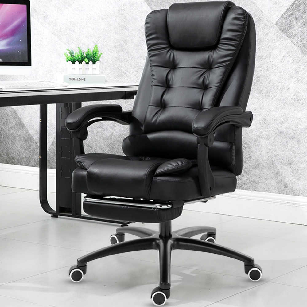 Work Chair Computer Household Work Luxury Office Furniture Massage Gaming Ergonomic Game Chair Synthetic Leather Lift Swivel Footrest