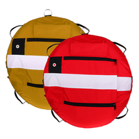 2Pcs Freediving Training Buoy Freediver Scuba Diver Inflatable Safety Float with Over Pressure Relief Valve Oral Inflator