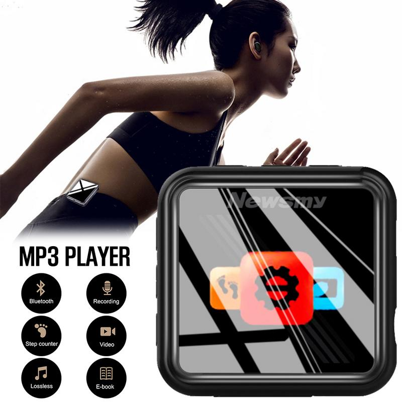 Mini lecteur MP3 Portable Bluetooth Sports de course lecture musique métal enregistreur vocal FM Radio podomètre Clip arrière Type 8G
