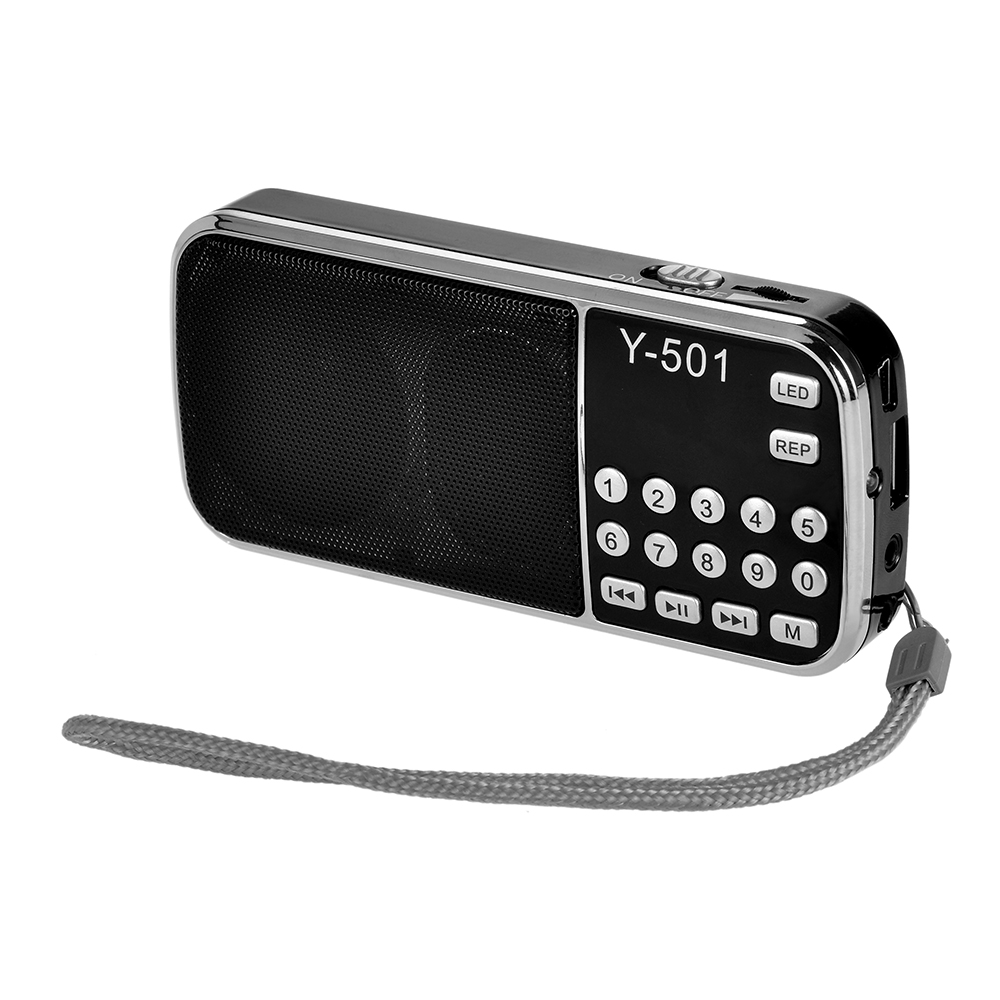 Tragbares Audio & Video Radio Gelernt Y-501 Mini Fm Radio Digital Tragbare 3 W Stereo Lautsprecher Mp3 Audio-player Radio W/0,75 bildschirm Led Taschenlampe Tf Karte Radio