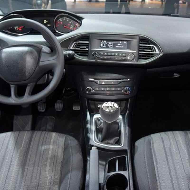Cuque 6 Speed Car Manual Gear Shift Knob Stick Head Auto Shift Knob Lever Gear Stick Shifter Adapter for Peugeot 307 308 3008 407 5008 807 Partner B9 Partner Tepee Citroen C3 C4 Picasso C8 Berlingo B9