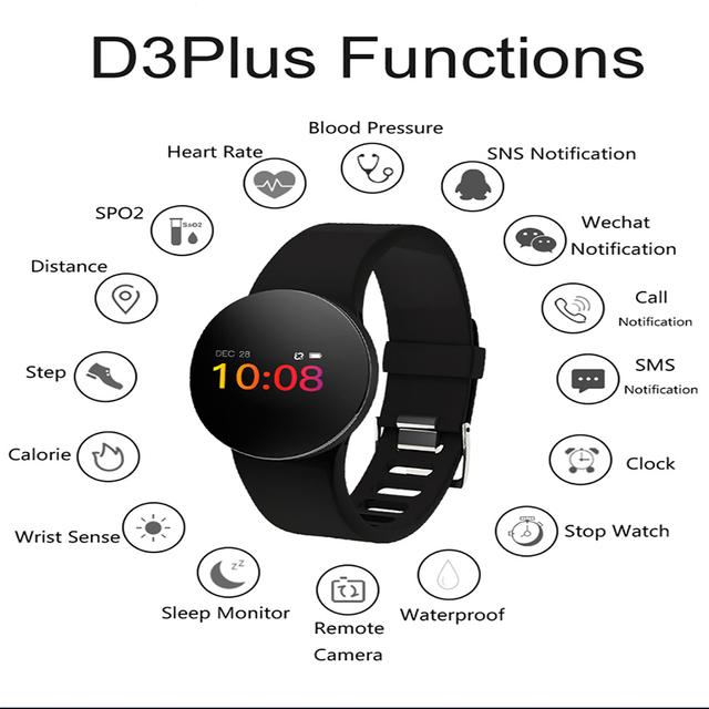 New  H8 color screen glass heart rate blood oxygen IP68 waterproof sports watch Bluetooth gift smart bracelet