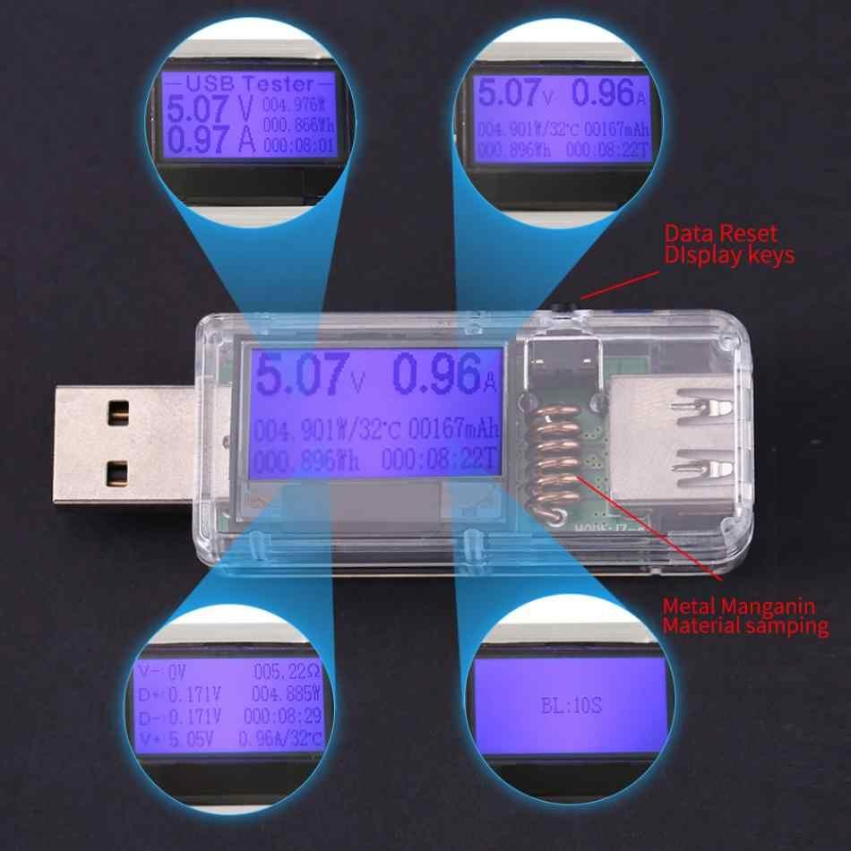 Voltmètre numérique USB 12 en 1 ampèremètre ampèremètre tension de courant ampèremètre détecteur chargeur chargeur indicateur de réduction