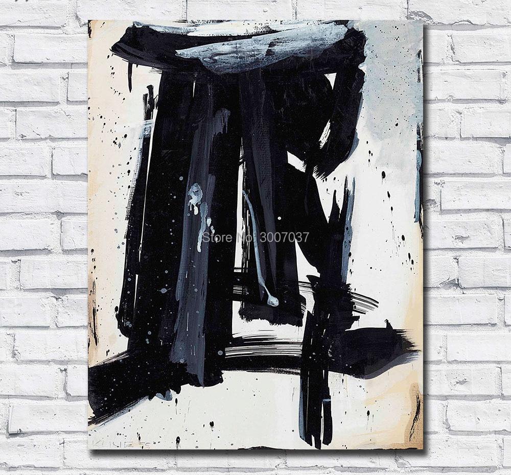 Tamanho grande Pintura por DHL Franz Kline Abstrato Da Pintura A Óleo Pinturas A Óleo Da Lona Fotos para Sala de estar e Quarto No quadros