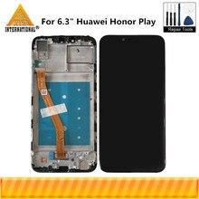 """Оригинальный Axisinternational 6,3 """"для Huawei Honor Play, ЖК дисплей, экран + сенсорная панель, дигитайзер для искусственных элементов с рамкой"""