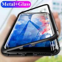 Magneto de adsorción magnética de Metal de vidrio doble caso para Samsung Galaxy S10 más casos de la cubierta para Samsung S 10 S10e caso