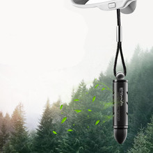 Car Freshener Hanging Pendant Alloy Bullet Solid Perfume Balm Air Purifier Automobiles Rearview Mirror Suspension Cleaner
