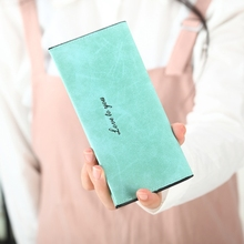 Wallet Giveaway Female Models Ladies Long Section Ultra-Thin Student Card Package Matte Coin Purse