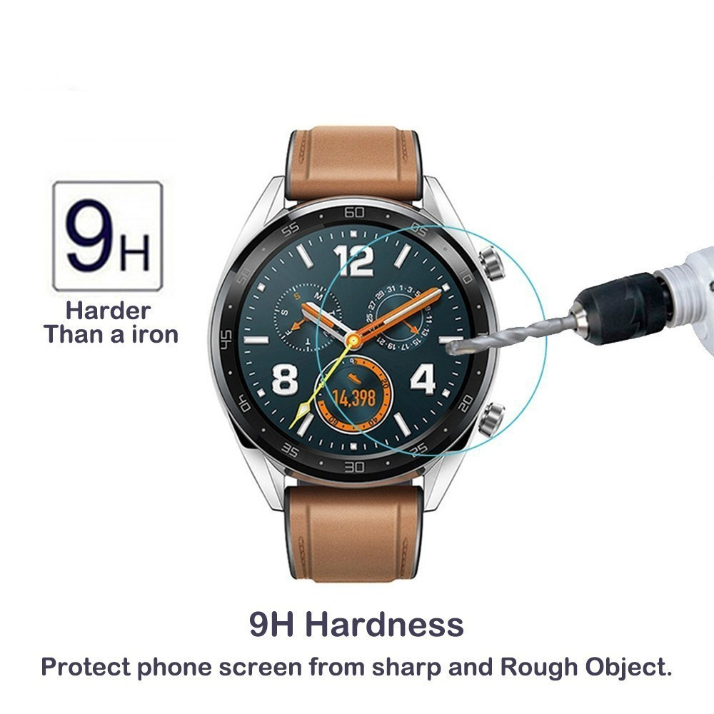 284fd7a85 2pcs For Huawei Watch GT Gt Tempered Glass Screen Protector 9H 2.5D Glass  Protective Film Guard Anti Explosion Anti-shatter