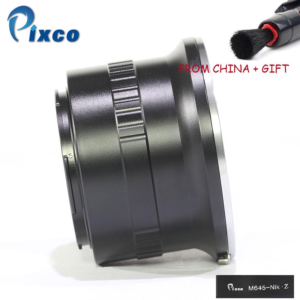 Pixco M645 Nik Z Lens Mount Adapter Ring for Mamiya 645 Lens to Suit for Nikon