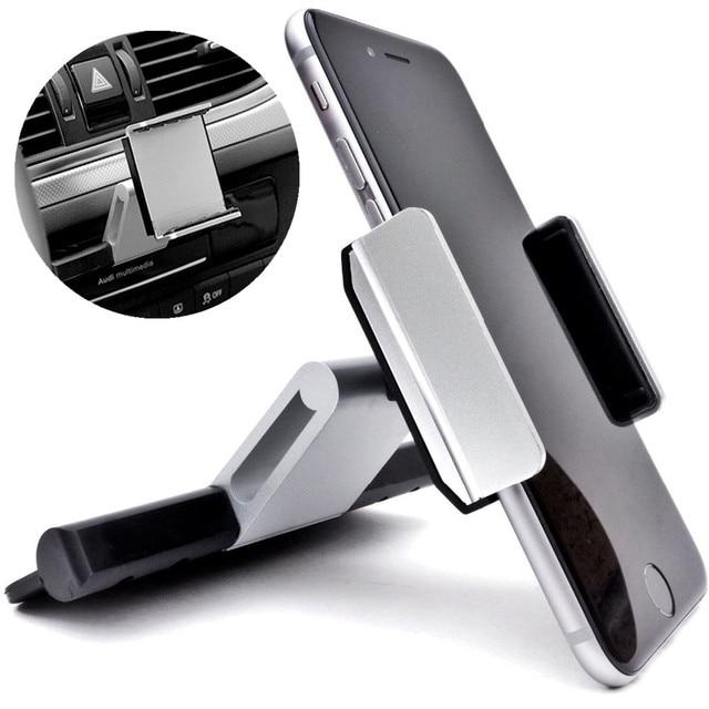 Универсальный автомобильный CD Слот держатель мобильного телефона крепление колыбели 360 вращающийся зажим для всех 3,5-6,0 дюймов смартфон для iPhone для samsung