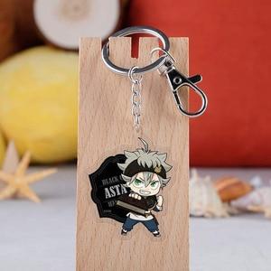 Anime Black Clover Cosplay Keychain Cartoon Asta Yuno Noell Silva Yami Sukehiro Magna Swing Car Key Holder Chain Pendant Keyring(China)