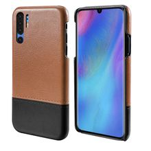CASEWIN For Huawei P30 Pro Case Luxury Vintage PU Leather Slim Capsule Dual Color Hard Cover Shockproof