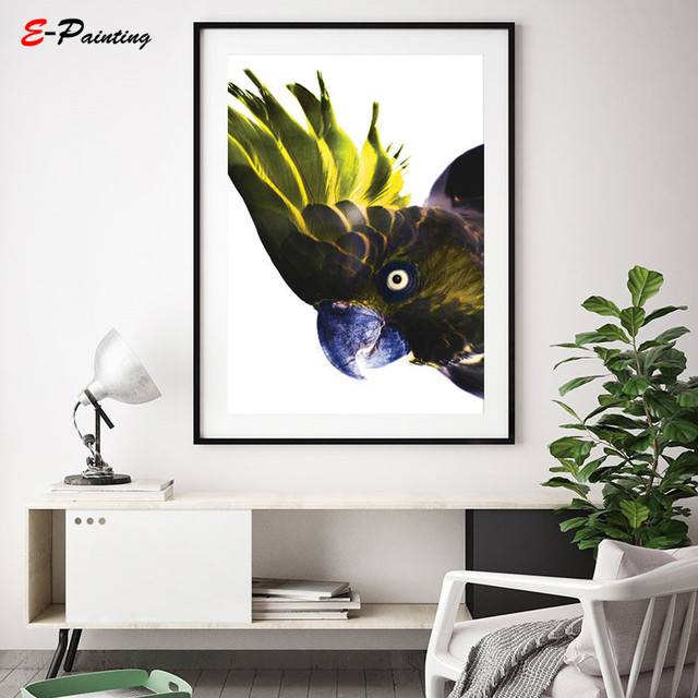 Modern Wall Decoration Colorfull Parrot Print Picture Animal Bird Art Photography Canvas Painting Posters Living Room Home Decor