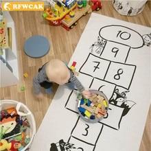 купить RFWCAK Kids Play Game Mat Rectangle Carpet Rugs Digital Checkers Crawling Blanket Floor Carpet For Kid Room Decoration Baby Gift по цене 1026.24 рублей