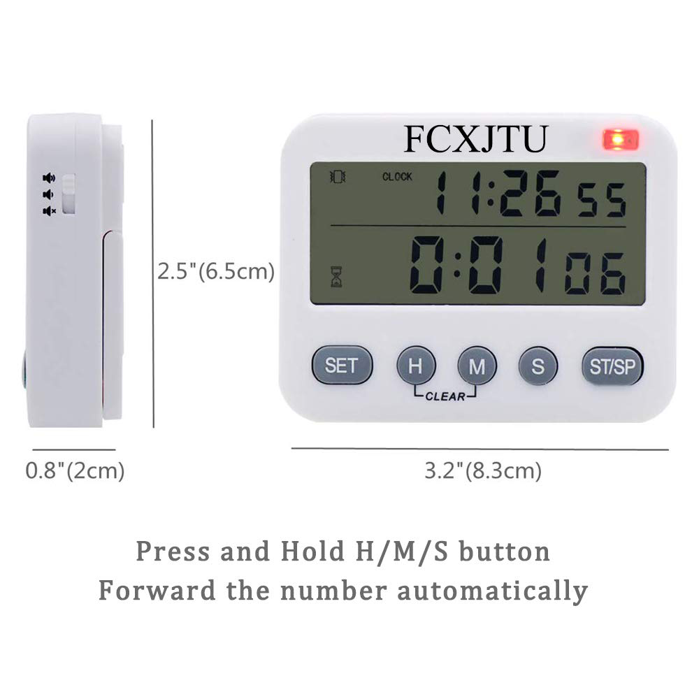 Smart Hot Sale Ys Digital Kitchen Timer Count Up/down Cooking Timer Large Display,vibration/flashlight/loud Alarm,24-hour Clock &