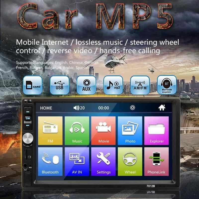 "Vodool 7012B 2 Din 7 ""Hd Touch Screen Auto Stereo MP5 Speler Bluetooth Usb Fm Radio Autoradio Audio Multimedia speler Met Camera"