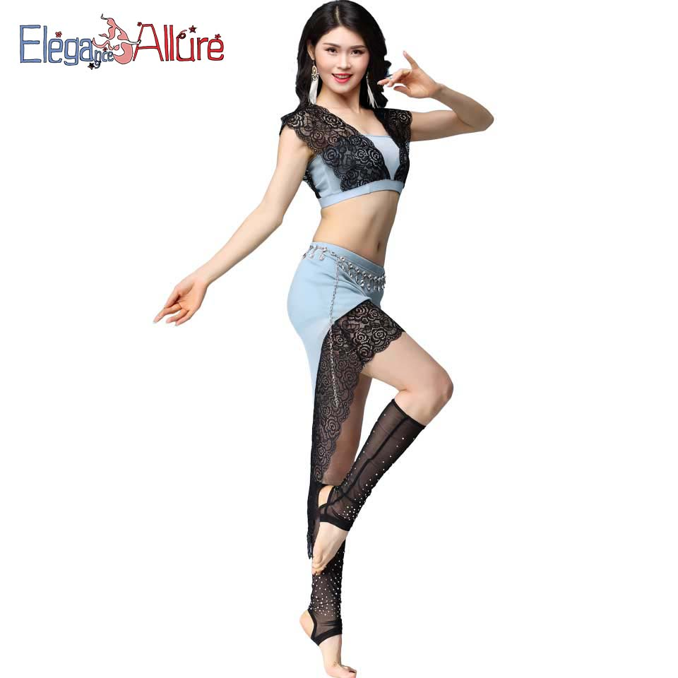 E A Sexy Belly Dance Costume Set Top Shirt Skirt Women Belly Dancing Clothes Beginner Bellydance Eastern Oriental Indian Wear in Belly Dancing from Novelty Special Use