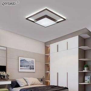 Image 2 - VUÔNG Đèn LED Âm Trần Phòng Khách Phòng Ngủ Điều Khiển từ xa Lamparas De Techo Moderna vàng cà phê Khung Nhà Đèn