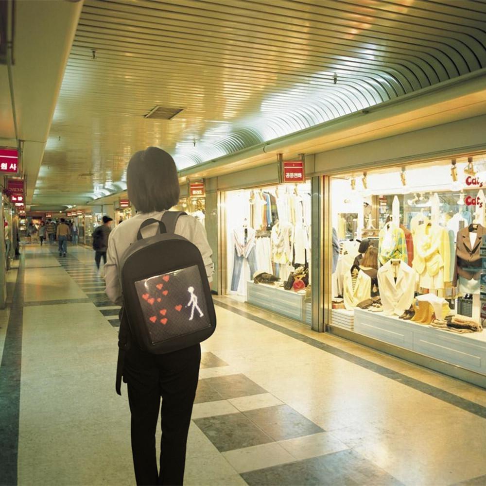 AKDSteel écran affichage LED sac à dos bricolage sans fil Wifi APP contrôle publicité sac à dos en plein air LED marche panneau d'affichage sac à dos - 4