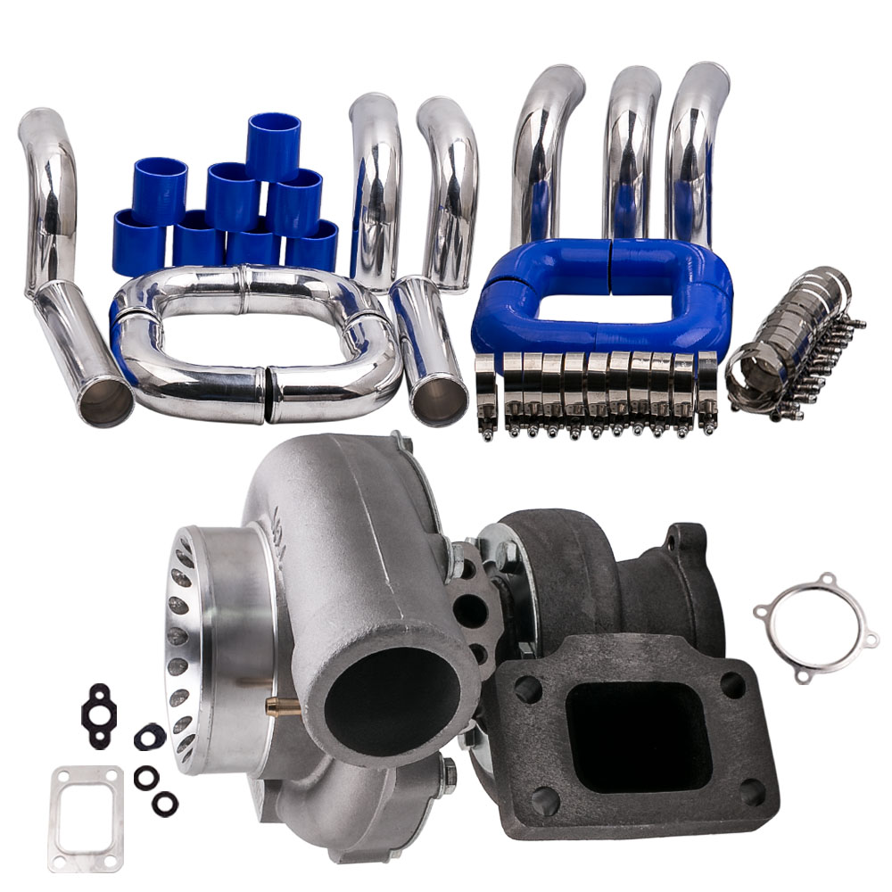 GT35 GT3582 GT3582R <font><b>Turbo</b></font> für <font><b>R32</b></font> R33 R34 RB25 RB30 T3. 70. 63 A/R Turbolader + universal interrohr schlauch <font><b>kit</b></font> 2,5 zoll image