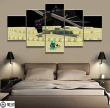 Canvas Printed Game Poster Minecraft 5 Pieces Wall Art Painting Home Decor For Living Room Artwork EnderDragon