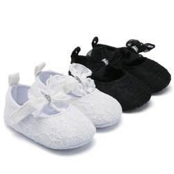 Милые Нескользящие кружевные оборки для маленьких девочек; обувь для кроватки с цветочным рисунком; Мягкая Повседневная обувь из хлопка с