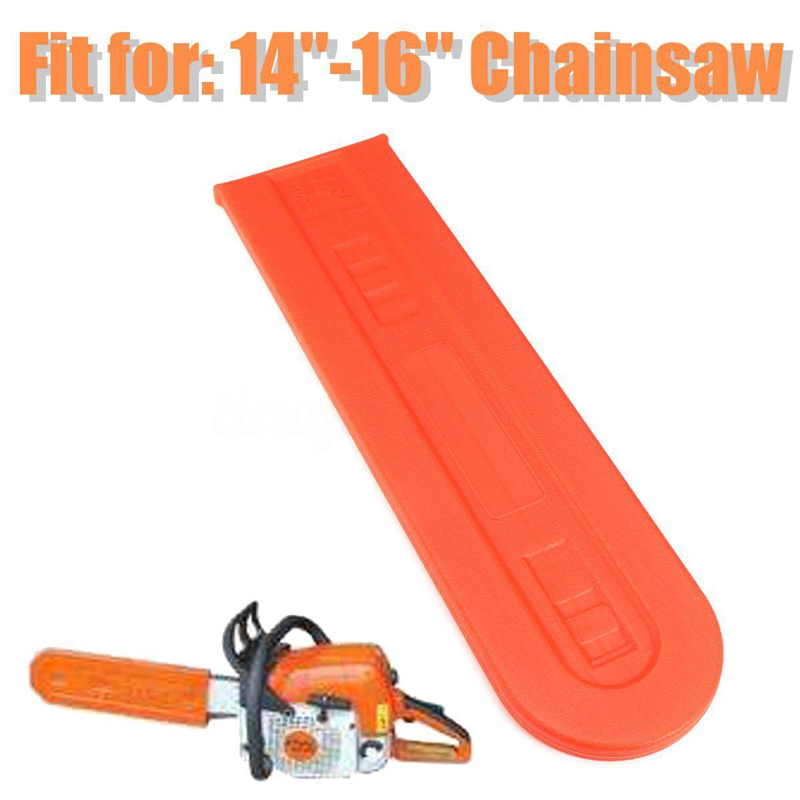Image 2 - Orange Chainsaw Bar Protect Cover Scabbard Guard for Stihl-in Tool Parts from Tools