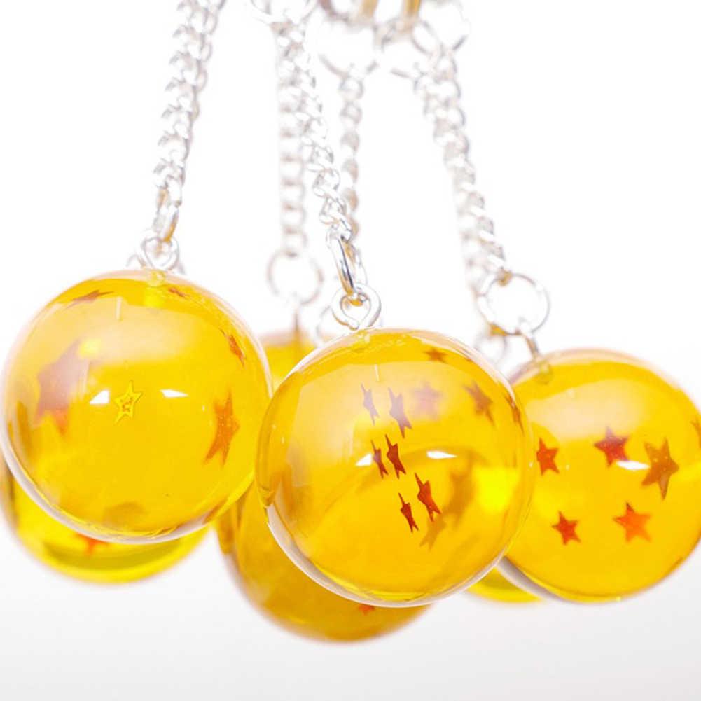 Anime Goku Dragon Ball Super Keychain 3D 1-7 Sterne Cosplay Kristall Ball Schlüssel kette Sammlung Spielzeug Geschenk schlüssel ring
