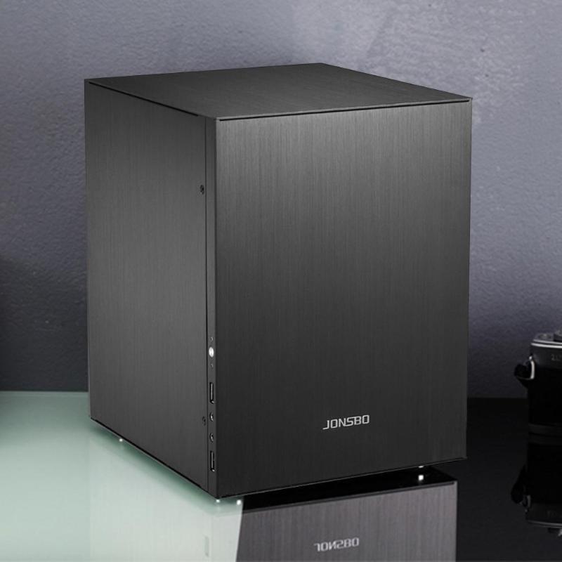 C2 Aluminum Computer Case Desktop PC Chassisfor Mini ITX/Micro-ATX (245x215mm) 200x224x270mm For 170*170mm motherboard 6