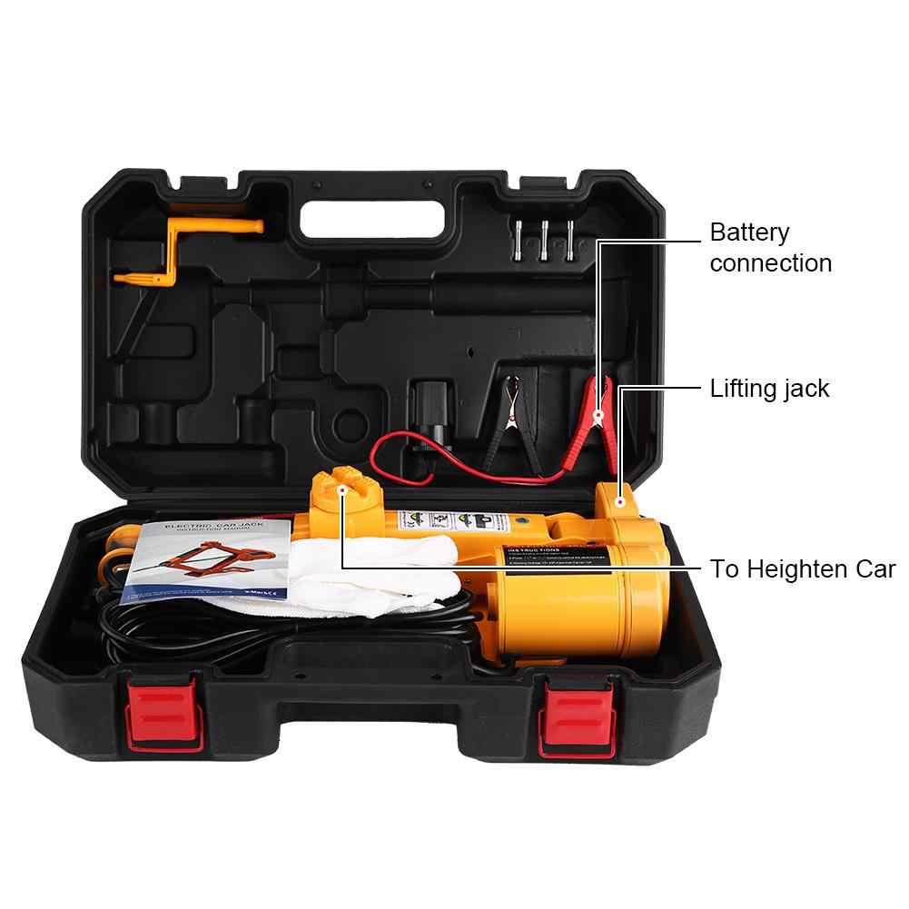 2Ton 12 V Draagbare Elektrische Auto Jack Slagmoersleutel Auto Lifting Jack Luchtpomp Compressor SUV MPV Van Garage Auto elektrische Sleutel