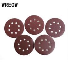 Aluminium oxid 10 stücke 125mm 5 zoll schleif scheiben schleifpapier pad 8 Loch Schleifen Discs für Gelegentliche Orbital Sander polieren für glas