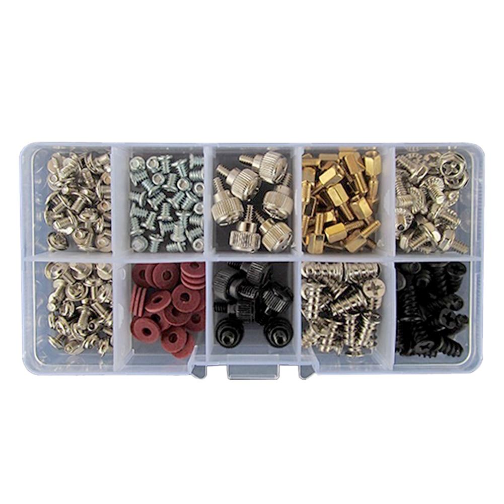 228 piezas de disco duro DIY para la placa base tornillos para PC Kit de surtido de herramienta de reparación con el caso de computadora conjunto de accesorios