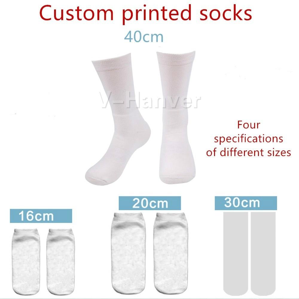 V Hanver 3D Print DIY Custom Design Men Women Socks Casual Sock Wholesalers Suppliers For Drop