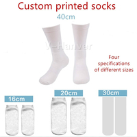 V Hanver 3D Print DIY Custom Design Men/Women Socks Casual Sock Wholesalers Suppliers For Drop Shipper 100 Pairs Or More Custom