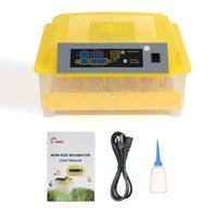 48 Eggs Intelligent Automatic Egg Incubator Temperature Control Hatcher for Hatching Chicken Duck Bird Quail Poultry