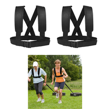 2pcs Sled Harness Snow Tire Pulling Vest Strap Belt Running Strength Trainer for Home Clubs Workout Equipment