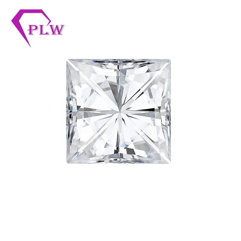 Provence jewelry 0.3 carat 3*3mm D color VVS 3ex princess cut moissanite for ring bracelet necklace earring for womenProvence jewelry 0.3 carat 3*3mm D color VVS 3ex princess cut moissanite for ring bracelet necklace earring for women