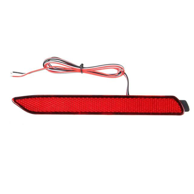 A Pair Car Rear Tail Bumper LED Lights For Lexus IS-F GX470 RX300 LED Rear Bumper Reflector Brake Lights OEM Style Red Lens