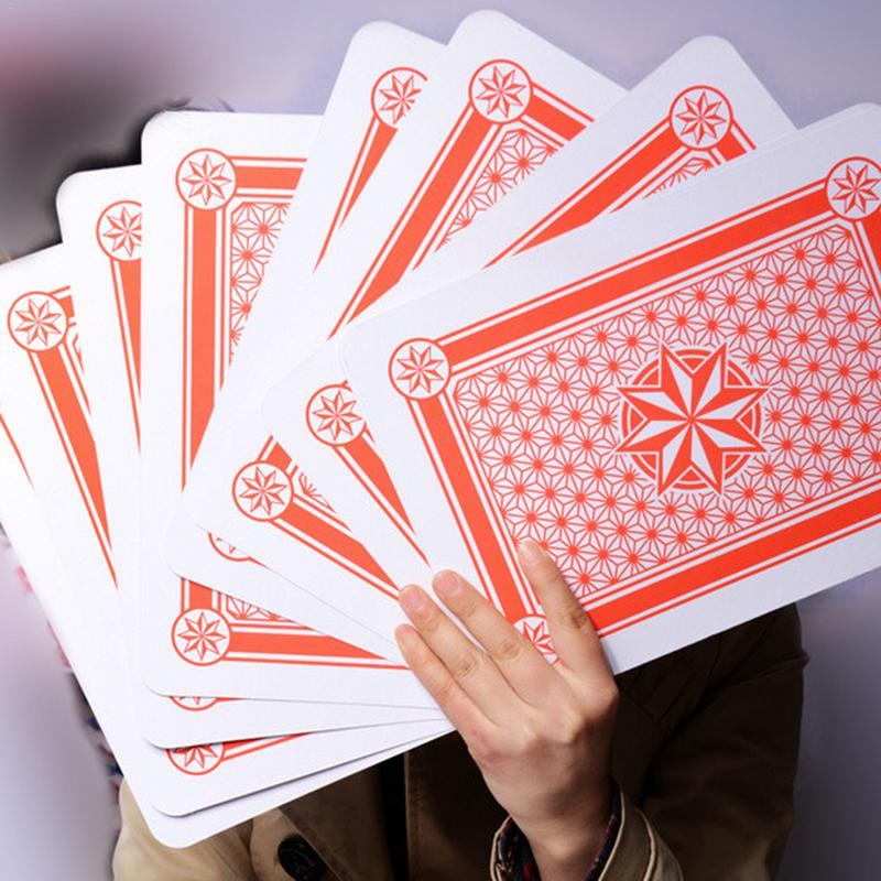 Extra Large Oversized Playing Cards Tricks Cards A4 Poker Cartas Poker Super Card Game Karty Do Gry