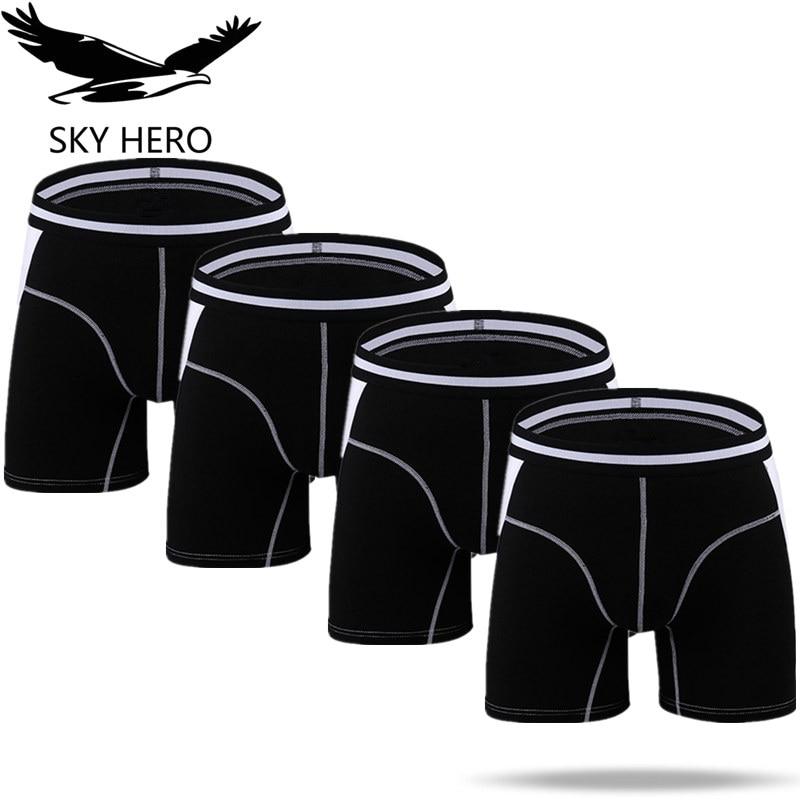 4pcs/lot Men Underwear Long Boxers Male Panties Boxershort Calzoncillos Mens Underpants Man Boxer Hommes Modal Hombre Brand